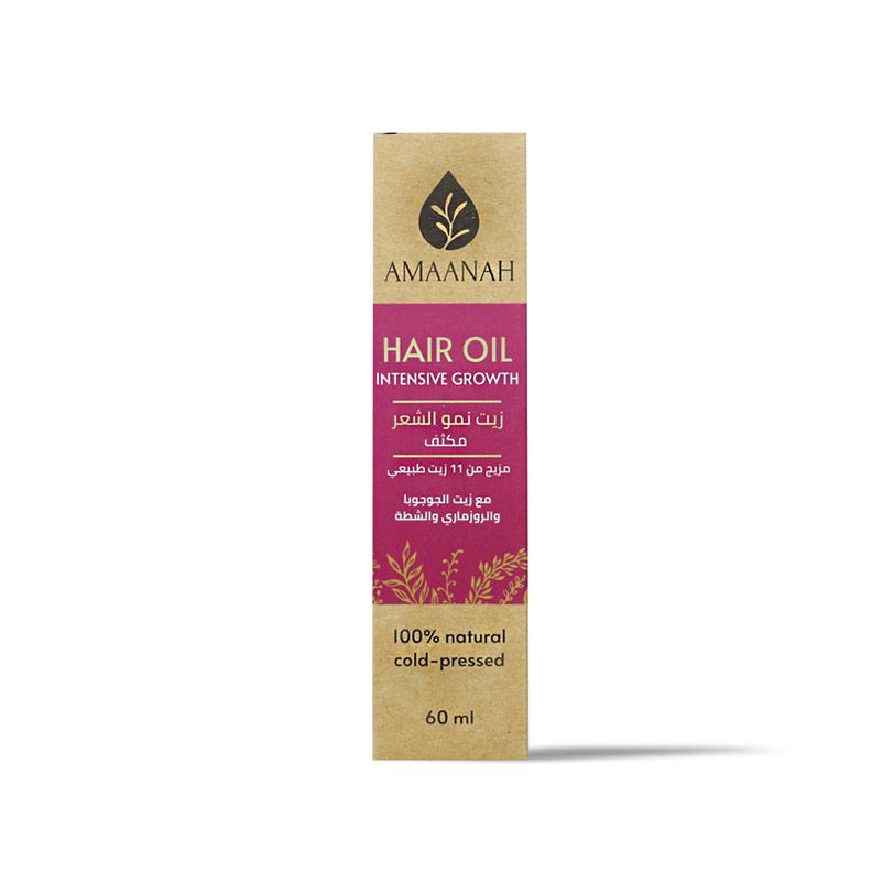 أمانه زيت نمو الشعر مكثف مزيج من أحدا عشر زيتاً طبيعياً  60مل - Amaanah - 90EGP - Buy it from GlossCairo.com