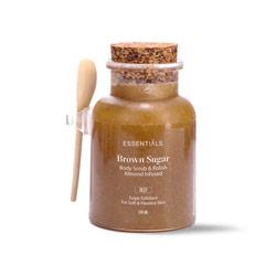 كريم تقشير للوجه والجسم  بحبيبات السكر البني 240مل – Essentials - Glosscairo - Egypt
