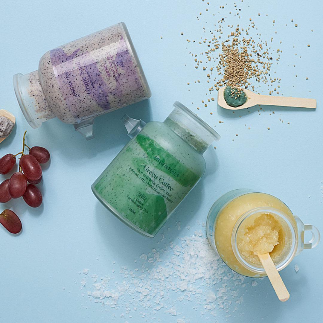 كريم تقشير للوجه والجسم بالقهوة الخضراء 240مل - Essentials - 170.00EGP - Buy it from GlossCairo.com