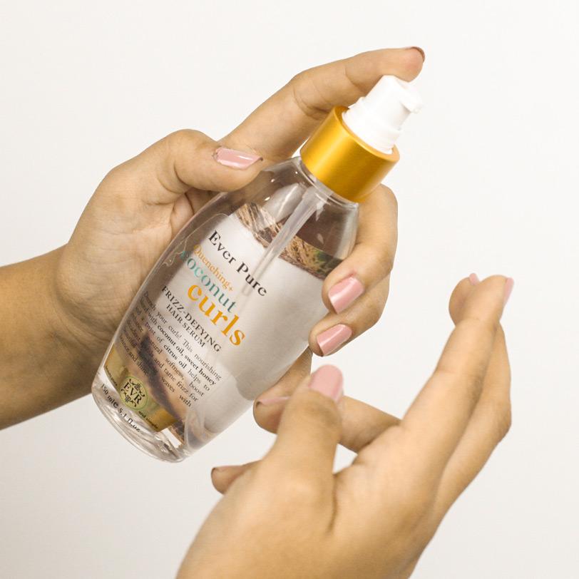 ايفر بيور سيروم  للشعر بجوز الهند للشعر الكيرلى 150مل - Ever Pure - 120EGP - Buy it from GlossCairo.com