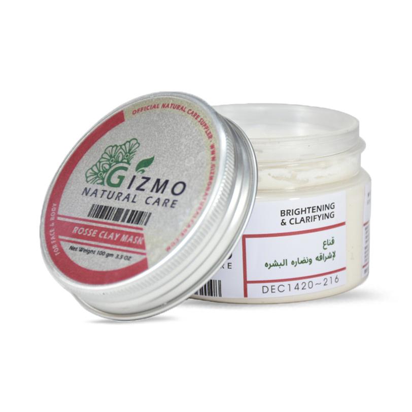 ماسك الطين الأبيض و زيت الورد للبشرة 100جرام  - Gizmo - 100.00EGP - Buy it from GlossCairo.com