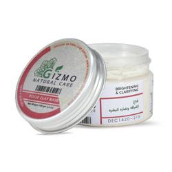 ماسك الطين الأبيض و زيت الورد للبشرة 100جرام  - Gizmo - Glosscairo - Egypt