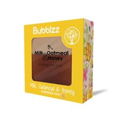 صابونة طبيعية  باللبن والعسل والشوفان 160جرام – Bubblzz - Glosscairo - Egypt