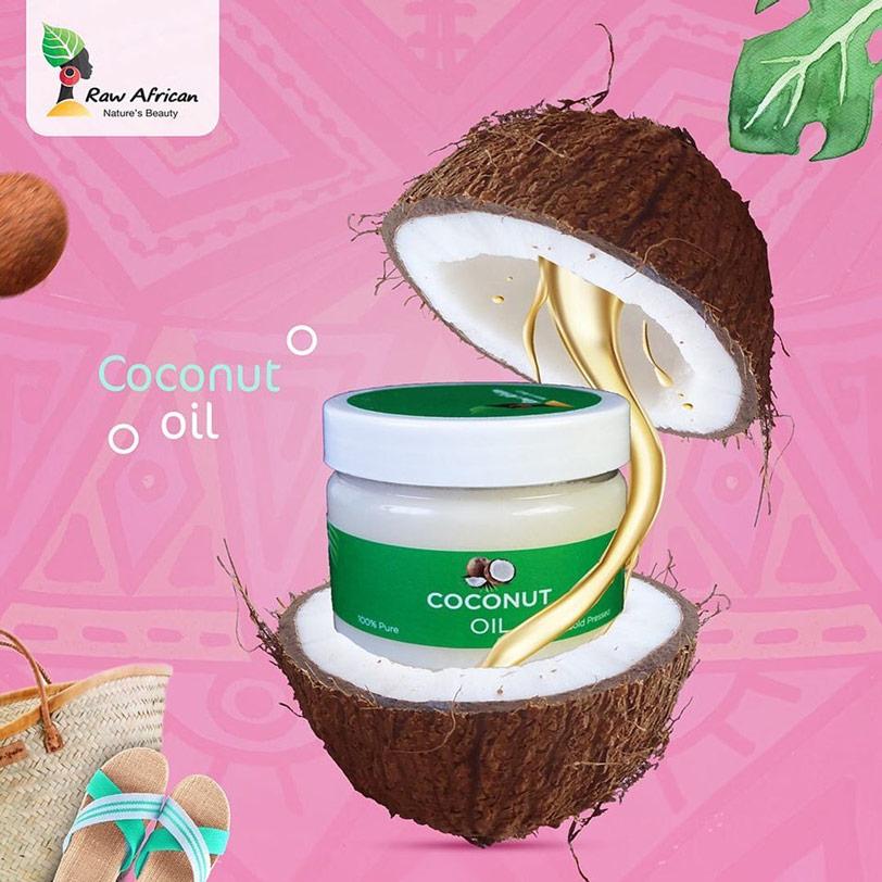 رو أفريكان زيت جوز الهند 200مل - Raw African - 100.00EGP - Buy it from GlossCairo.com