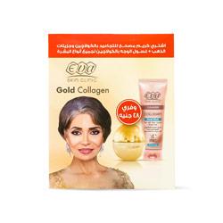 مجموعة سكين كلينيك ( كريم مصحح التجاعيد بالكولاجين وجزيئات الذهب + غسول الوجه بالكولاجين ) - Eva - 148.00EGP - Buy it from GlossCairo.com